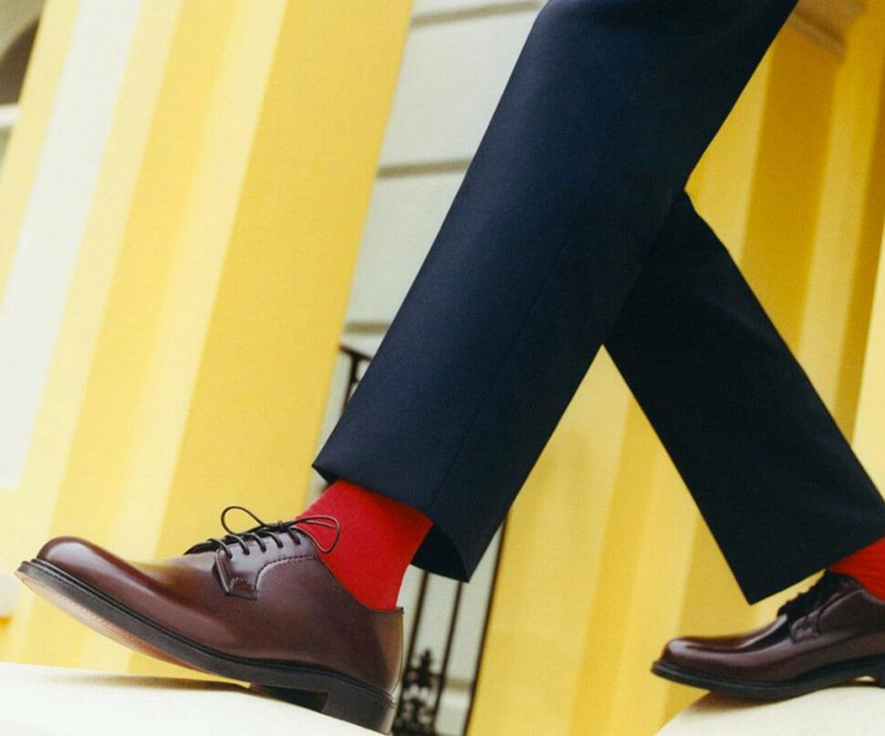Chaussette rouge pour homme